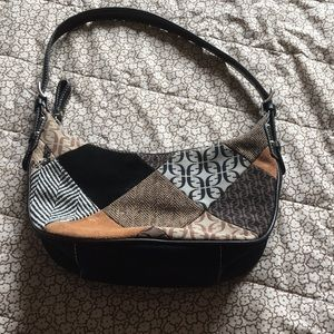 Fossil patchwork purse
